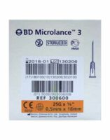 BD MICROLANCE 3, G25 5/8, 0,5 mm x 16 mm, orange  à SAINT ORENS DE GAMEVILLE