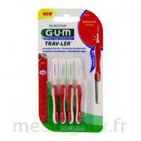 GUM TRAV - LER, 0,8 mm, manche rouge , blister 4 à SAINT ORENS DE GAMEVILLE