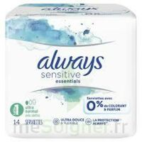 Always Serviettes Sensitive Essentials - Normal Plus à SAINT ORENS DE GAMEVILLE