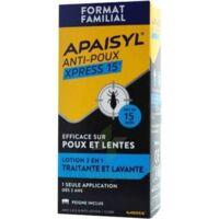 Apaisyl Anti-poux Xpress 15' Lotion antipoux et lente 200ml+peigne à SAINT ORENS DE GAMEVILLE
