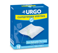 Urgo Compresse Stérile 10x10cm 10 Sachets/2 à SAINT ORENS DE GAMEVILLE